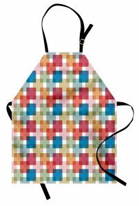 İç İçe Dikdörtgenler Mutfak Önlüğü Geometrik