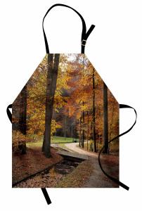 Sonbahar Orman Esintisi Mutfak Önlüğü Yapraklar