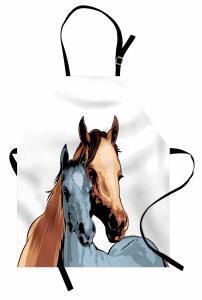 Anne At ve Tayı Mutfak Önlüğü Dekoratif