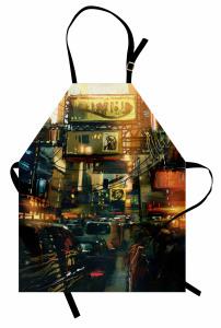 Şehir Trafiği Kargaşası Mutfak Önlüğü Modern