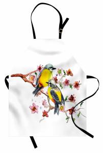 Sarı Karınlı Kuşlar Mutfak Önlüğü Sevimli