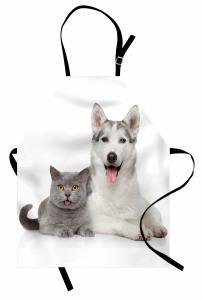 Kedi Köpek Dostluğu Mutfak Önlüğü Kedi Köpek