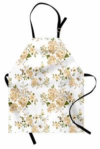 Açmış Tomurcuk Çiçeği Mutfak Önlüğü Çeyizlik