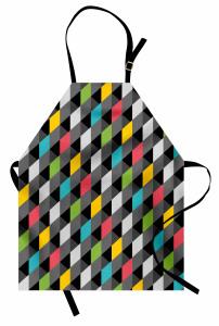 3D Diyagonal Karolar Mutfak Önlüğü Şık