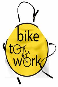 Bisiklete Binin İlanı Mutfak Önlüğü Dekoratif