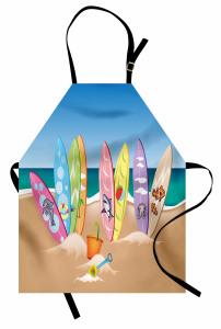 Hayvan Sörf Tahtaları Mutfak Önlüğü Kumsal