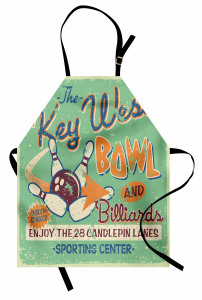 Bowling Salonu Tabelası Mutfak Önlüğü Nostaljik