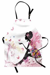 Kelebek Elbiseli Kız Mutfak Önlüğü Peri Masalı