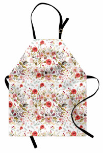 Bahar Çiçekleri Desenli Mutfak Önlüğü Rengarenk