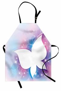 Işıltılı Kelebekler Desenli Mutfak Önlüğü Çeyizlik