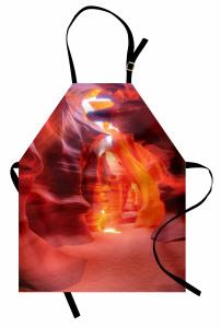 Turuncu Kanyon Manzaralı Mutfak Önlüğü Işık Doğa