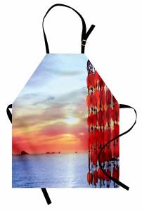Akdeniz Ateşi Temalı Mutfak Önlüğü Yaz ve Deniz