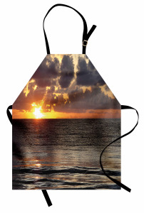 Adada Gün Doğumu Manzaralı Mutfak Önlüğü Deniz Bulut