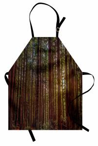 Huzurlu Orman Temalı Mutfak Önlüğü Ağaç ve Doğa
