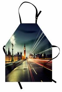 Londra'da Akşam Temalı Mutfak Önlüğü Big Ben İngiltere