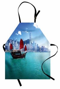 Hong Kong'da Bir Yelkenli Temalı Mutfak Önlüğü