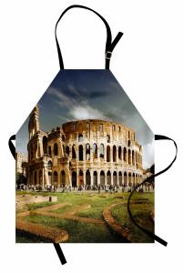 Kolezyum ve Gökyüzü Manzaralı Mutfak Önlüğü Roma
