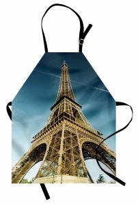 Eyfel Kulesi Manzaralı Mutfak Önlüğü Paris Temalı