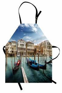 Venedik'te Gondol Gezisi Temalı Mutfak Önlüğü İtalya