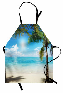 Egzotik Adada Yaz Coşkusu Temalı Mutfak Önlüğü Deniz