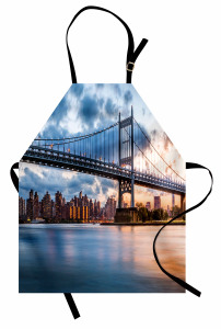 New York Manzaralı Mutfak Önlüğü Köprü ve Gökyüzü