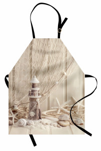 Deniz Temalı Mutfak Önlüğü Denizyıldızı Deniz Kabuğu