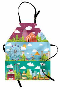 Sirk ve Lunaparkta Eğlenceli Bir Gün Mutfak Önlüğü