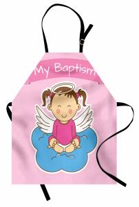 Çocuklar İçin Mutfak Önlüğü Sevimli Vaftiz Temalı