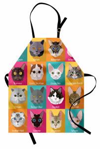 Kedi Cinsleri Desenli Mutfak Önlüğü Şık Tasarım
