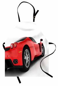 Kırmızı Yarış Arabası Temalı Mutfak Önlüğü Spor