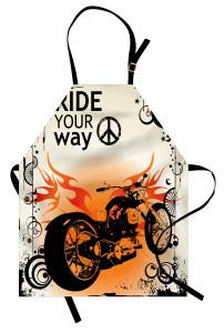 Ruhu Özgür Olanlara Özel Mutfak Önlüğü Motosiklet