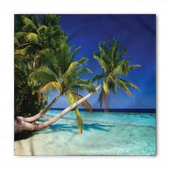 Egzotik Cennet Temalı Bandana Fular