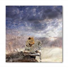 Leopar ve Gökyüzü Bandana Fular