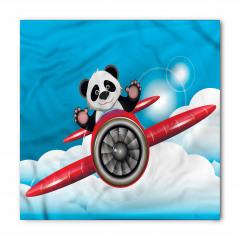Kırmızı Uçaktaki Panda Bandana Fular