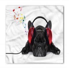 Müzik Dinleyen Köpek Bandana Fular