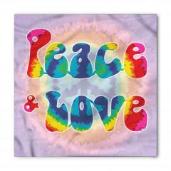 Aşk ve Barış Temalı Bandana Fular