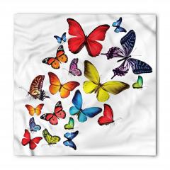 Kelebek Coşkusu Desenli Bandana Fular
