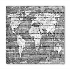 Klasik Dünya Haritası Bandana Fular
