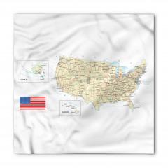 ABD Haritası Temalı Bandana Fular