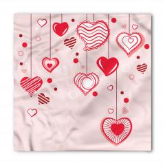 Açık Pembe Fonlu Kalp Bandana Fular
