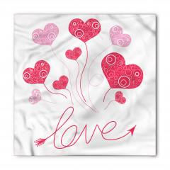 Aşk Kalp Şekilli Balon Bandana Fular