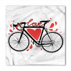 Aşk ve Bisiklet Desenli Bandana Fular