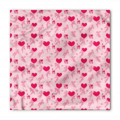 Aşk Meleği ve Kalp Desenli Bandana Fular