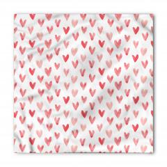 Kırmızı Pembe Kalpler Bandana Fular