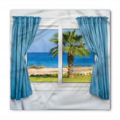 Pencere Deniz Manzaralı Bandana Fular
