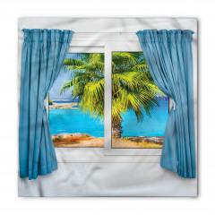 Pencere Deniz Palmiye Bandana Fular