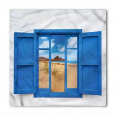 Pencerede Kumsal Deniz Bandana Fular