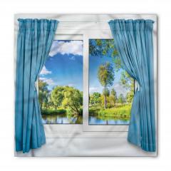 Pencere Göl Manzaralı Bandana Fular