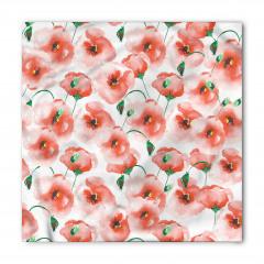 Gelincik Çiçeği Desenli Çeyizlik Bandana Fular