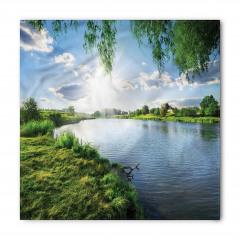 Nehirde Güneşli Bir Gün Bandana Fular